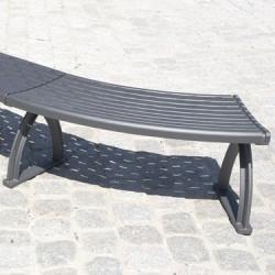 System 104 Lavario 45° - Sitz-Bank-System Aluminium