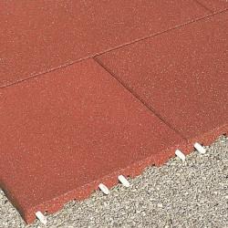 Fallschutzplatten - 8 cm/ rot
