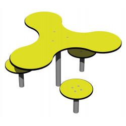 Nico - Combinaison table-tabourets pour petits enfants.
