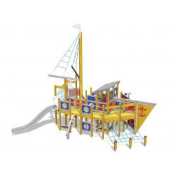 Moby Dick - Spielschiff/ Kletteranlage mit Rutsche