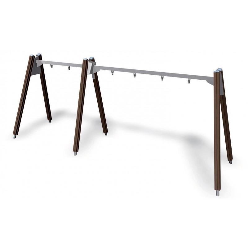 3er-Bockschaukel Holz