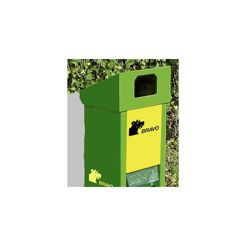 BRAVO Bravolino Hundekot-Behälter mit Wandhalterung