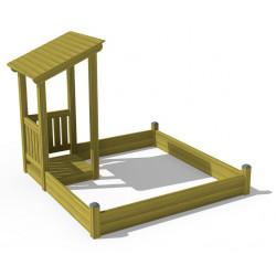 Budgetino Sandbox Claudia - Sandkasten/ Spielhaus