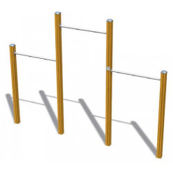 Chinning Bars for 3 - Senioren-Outdoor-Fitnessgerät