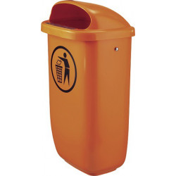 Tip Top Orange - poubelle en plastique