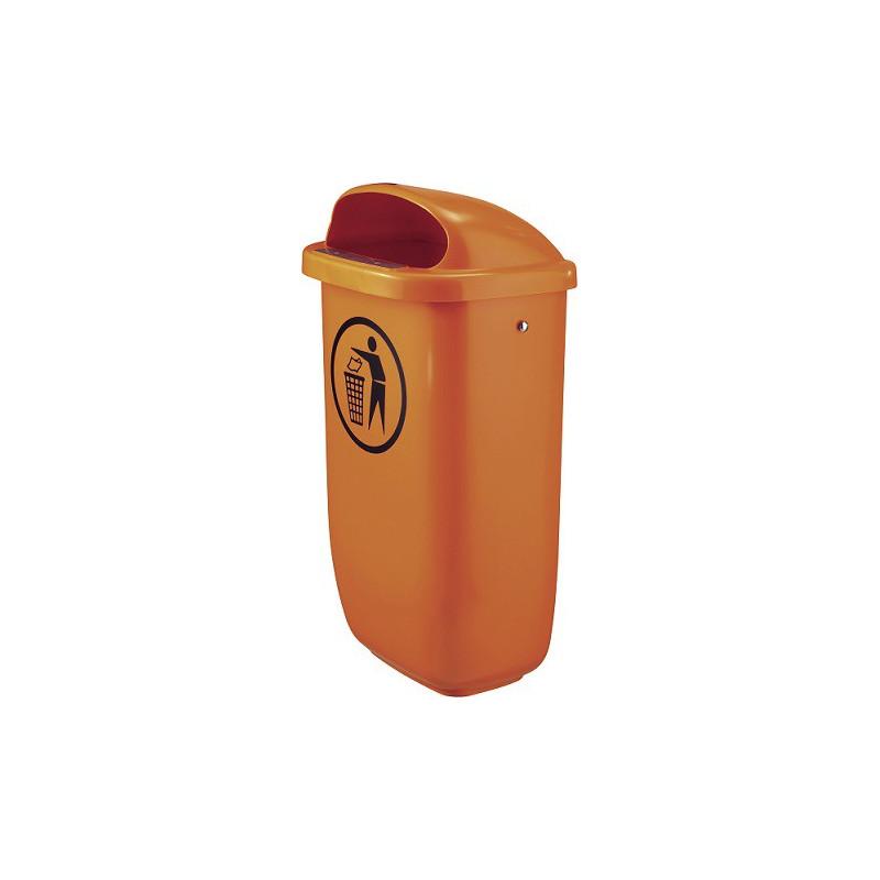 Tip Top Orange -Kunststoff-Abfallkübel