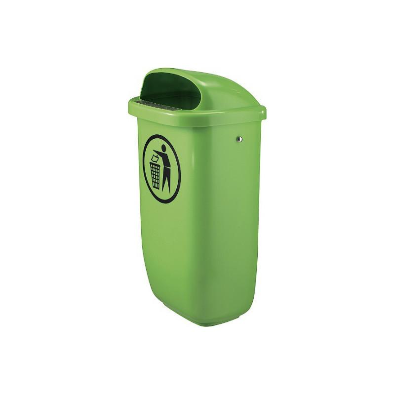 Tip Top Grün - Kunststoff-Abfallbehälter