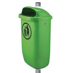 Tip Top - poubelle en matière synthétique avec poteau