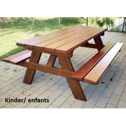 Picknick Holz - Bank / Tisch-Kombination für Kinder