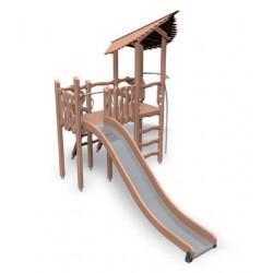 Spielanlage Kobold - Kletterturm mit Rutsche