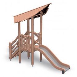 Stairs and slide- Naturspielplatzanlage - Turm mit Rutsche