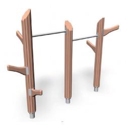 Chinning bars- engin pour aire de jeux naturelle