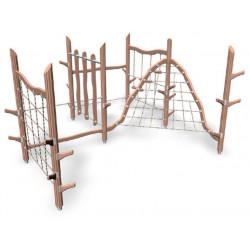 Climbing track- engin pour aire de jeux naturelle