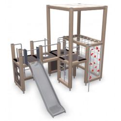 Tower and slide - Urbane Spielplatzanlage