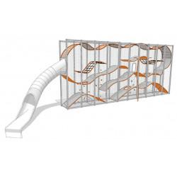 Wall Holla Slide 1 - Klettergerüst mit Rutsche