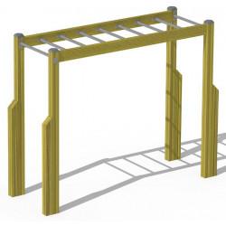 Hanger - appareil de fitness outdoor pour personne âgée