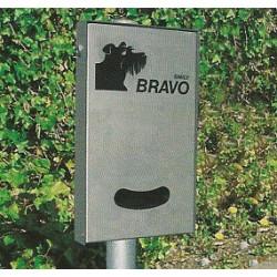 BRAVO Smily Inox - Distributeur de sachets pour crottes de chien
