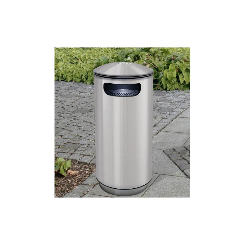 City BRAVO Inox - distributeur avec réceptacle à ordures