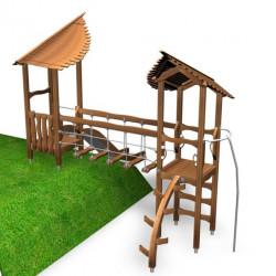 Hillside Play - Kletterturm mit Rutsche