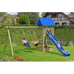 Junior - Kinderspielanlage aus Holz mit Doppelschaukel