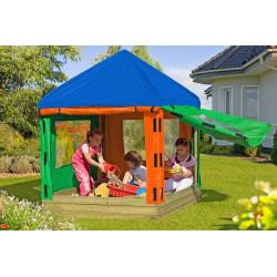 Pavillon pour enfants Willi - Bac à sable avec échaffaudage en bois