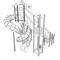 Space Station - Turm mit Rutsche
