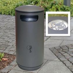 City 90 Abfallbehälter mit Aschenbecher