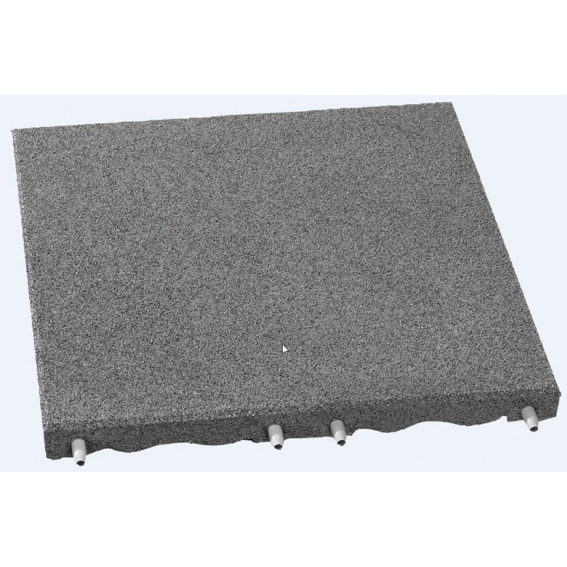 Fallschutzplatten - 7 cm/ grau