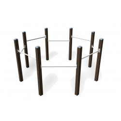 Chinning Bars for 3 - Outdoor Fitness