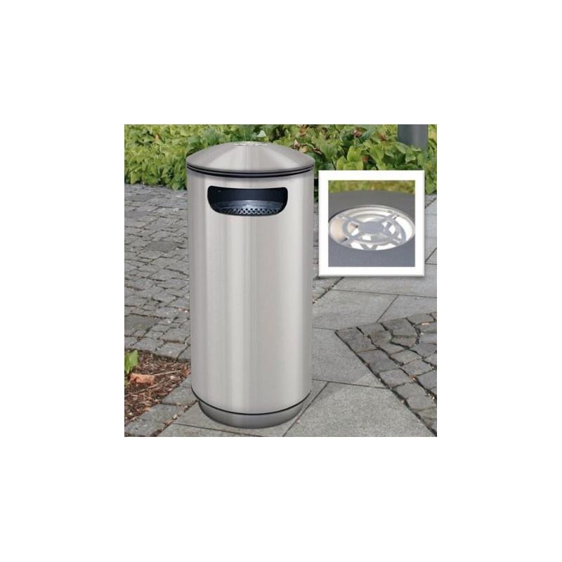 City 60 Inox Cendrier - réceptacle à ordures