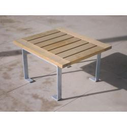 Luco - Hocker aus Stahl und Holz
