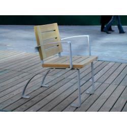 Luco Silla - Chaise en acier et en bois