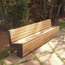 Nigra - banc en béton et en bois