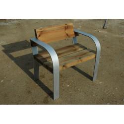 Nomo - Stahlstuhl mit Holz