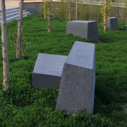 So-ffa - siège en béton, 4 parties