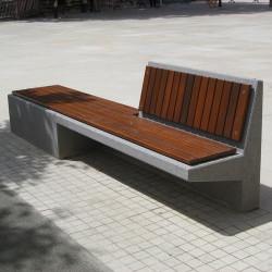Equal - banc en béton et en bois