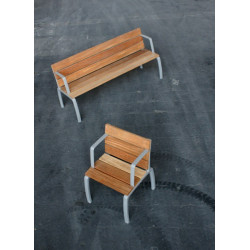 Kiwi - Bank aus Aluminium und Holz