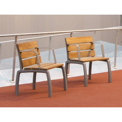 Kiwi - Stuhl aus Aluminium und Holz