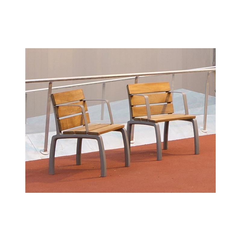Kiwi - chaise en aluminium et en bois