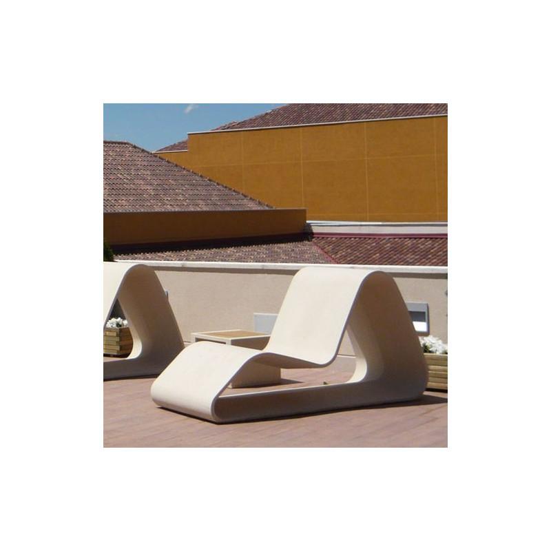 Rio - chaise longue en béton