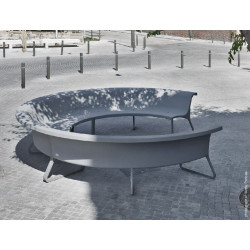 Concret - Betonbank mit Aluminiumsupport