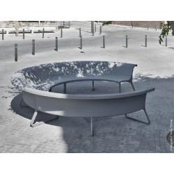 Concret - banc en béton avec support en aluminium