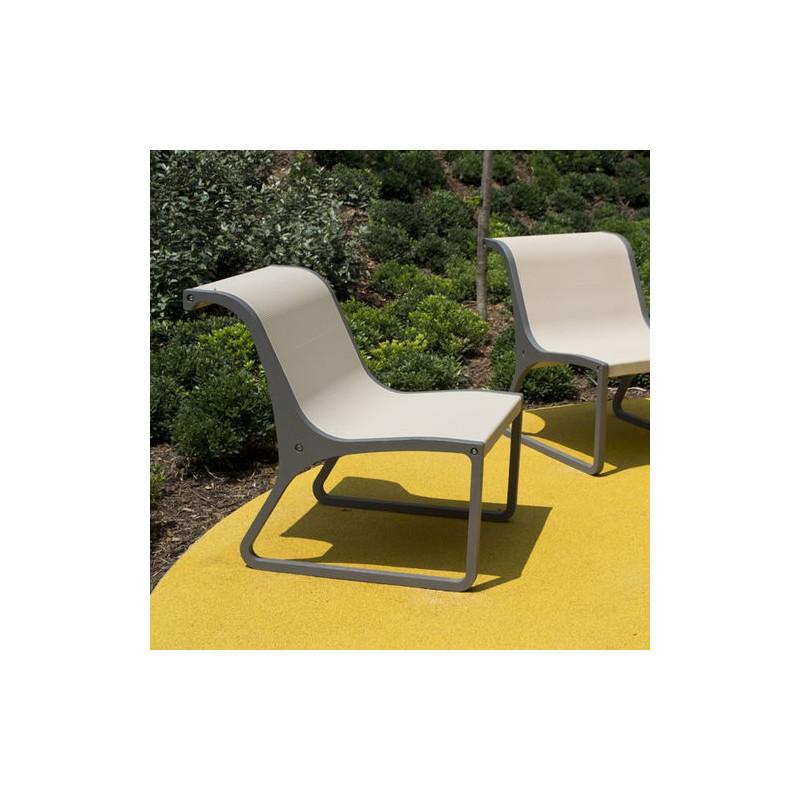 Concret - chaise en béton avec support en aluminium