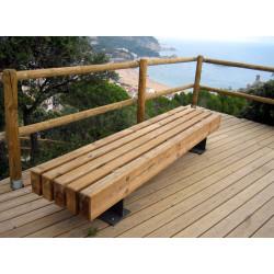 Escofet Tramet - Serie - Hockerbank aus Holz/ Metall