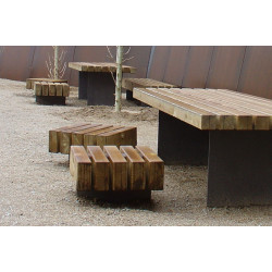 Escofet Taburete - Serie - Hocker aus Holz/ Metall