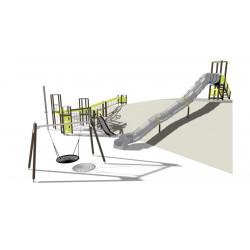Spielanlage Zurich International School - Klettergerüst/ Schaukel/ Rutsche