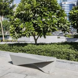 Yin Yang - banc en béton