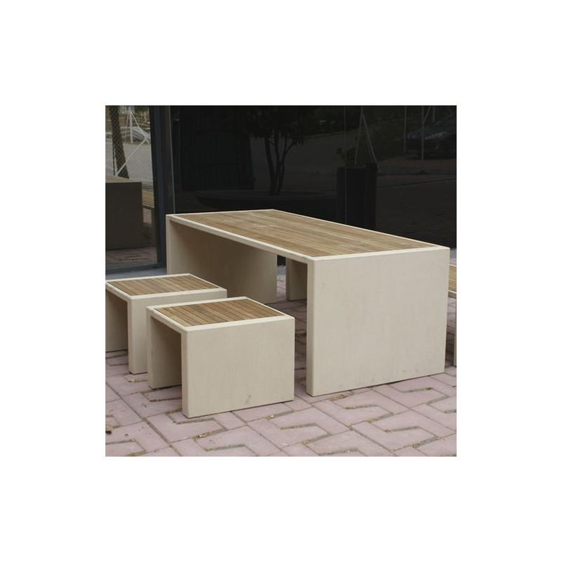 Prima Marina - tabouret en bois et béton