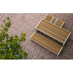 Prima Marina - table en bois et béton
