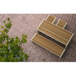 Prima Marina - Tisch aus Beton und Teakholz